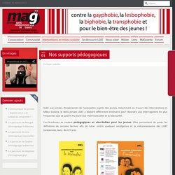 Brochures gratuites de l'association Mag Jeunes LGBT à commander