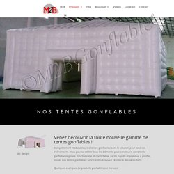 Nos tentes gonflables