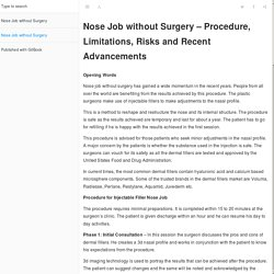 Nose Job without Surgery · Nose Job without Surgery