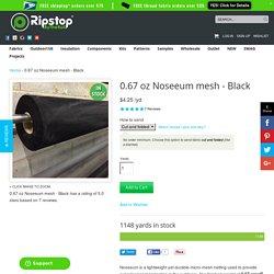 0.67 oz Noseeum mesh - Black