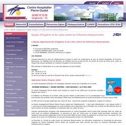 Equipe d'Hygiène et de Lutte contre les Infections Nosocomiales - Hôpital - Centre Hospitalier Pierre Oudot Bourgoin-Jallieu