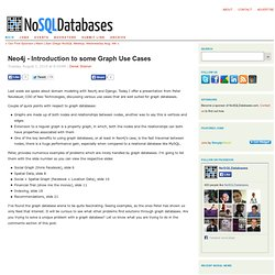 Graph Database Use Cases