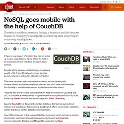 NoSQL goes mobile with the help of CouchDB | Software, Interrupted