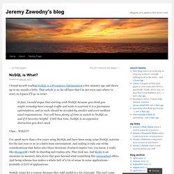 Jeremy Zawodny's blog