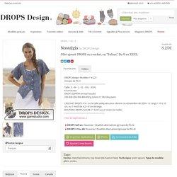 """Nostalgia / DROPS 152-3 - Gilet ajouré DROPS au crochet, en """"Safran"""". Du S au XXXL. - Free pattern by DROPS Design"""