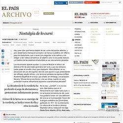 Nostalgia de lo cursi · ELPAÍS.com