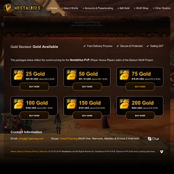 Buy Gold for Nostalrius PvP (Elysium Vanilla 1.12 WoW Project)