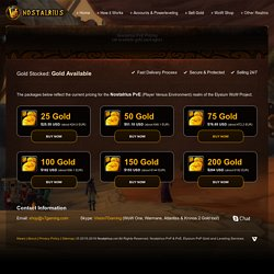 Buy Gold for Nostalrius PvE (Elysium Vanilla 1.12 WoW Project)