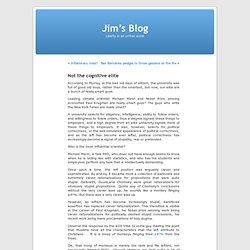 Not the cognitive elite « Jim's Blog