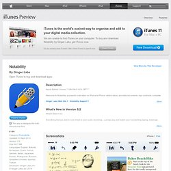 Notability - Take Notes & Annotate PDFs with Dropbox & Google Drive Sync for iPad on the iTunes App Store