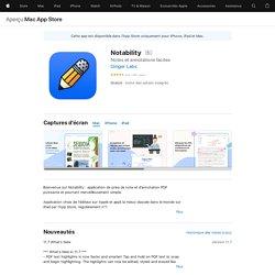 Notability dans l'App Store