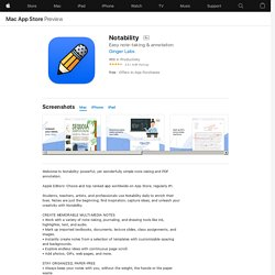 Notability on the AppStore