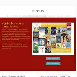 Notable Books For a Global Society (NBGS) - CL/R SIG