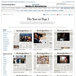 Notable 2012 Front Pages From The New York Times - Interactive Feature
