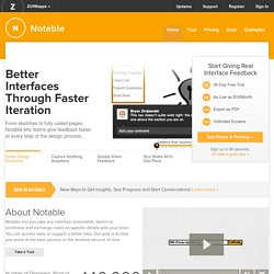 Notable | Better Webpages Through Faster Iterations, Website Screenshot Feedback