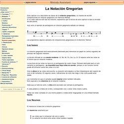 Notación gregoriana
