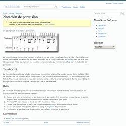 Notación de percusión