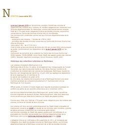 MARTINIQUE : notaires - loi 1979
