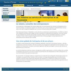 Les Notaires au service de l'entreprise et de l'économie - CNUE