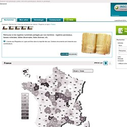 Registres & Archives en ligne : relevés d'état civil, liasses notariales, tables décennales, registres paroissiaux