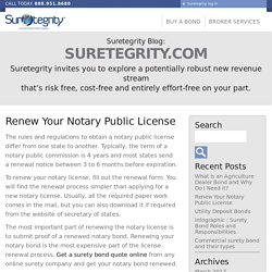 Renew Your Notary Public License - Suretegrity