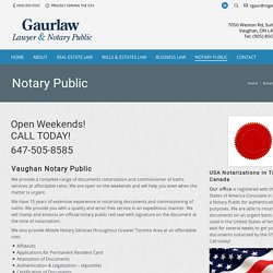 Notary Public Services Vaughan