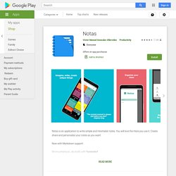 Notas - Apps on Google Play