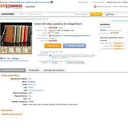 el bloc de notas cuaderno a6 vintage libro 5