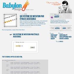 Un système de notation par étoiles accessible - Babylon-Design -