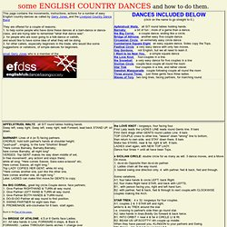 notation of basic easy simple country dances. english folk dances, country dance moves and actions,
