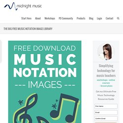 More than 150 music notation images - free download