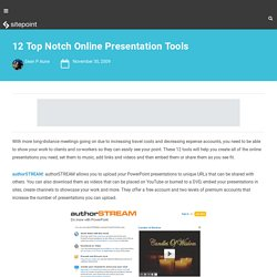 12 Top Notch Online Presentation Tools