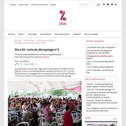 20062012- Rio+20 : note de décryptage n°2