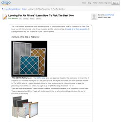 Looking For Air Filters? Learn How To Pick The Best One