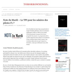 Note du Mardi - Le TPI pour les salaires des pilotes F1 ? - TomorrowNewsF1TomorrowNewsF1