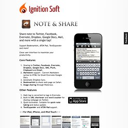 Note & Share - Ignition Soft