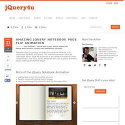 Amazing jQuery Notebook Page Flip Animation