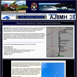 [ The Radio Room - AJ8MH's Notebook Series - Multi-band Twin-T Capacitive Loaded Vertical Doublet (Dipole) ]