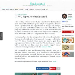 How to Make PVC Pipes Notebook Stand