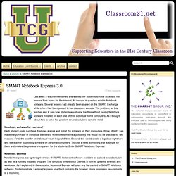 SMART Notebook Express 3.0 » Classroom21