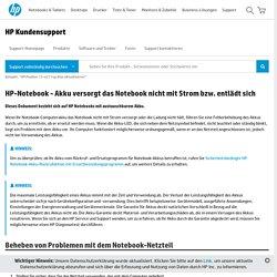 HP-Notebook - Akku versorgt das Notebook nicht mit Strom bzw. entlädt sich