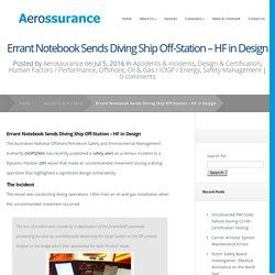 Errant Notebook Sends Diving Ship Off-Station - HF in Design - Aerossurance