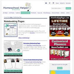 Free Notebooking Pages - Homeschool Helper Online – Homeschool Helper Online