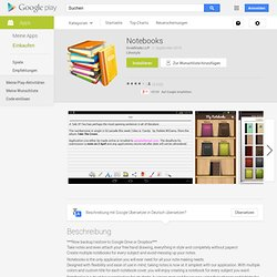 Notebooks - Android-Apps auf Google Play