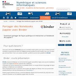 Partager des Notebooks Jupyter avec Binder - Numérique et sciences informatiques