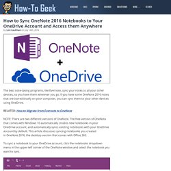 How to Sync OneNote 2016 Notebooks to Your OneDrive Account and Access them Anywhere