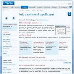 Notensatz mit capella - capella-software AG
