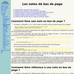 Notes de bas de page
