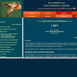 EFT - Notes de conférence - Pain Relief World Summit - page 1