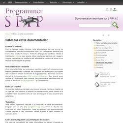 Notes sur cette documentation - Programmer avec SPIP 3.0